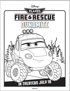 Fire: Planes and Rescue Coloring Pages - Dynamite