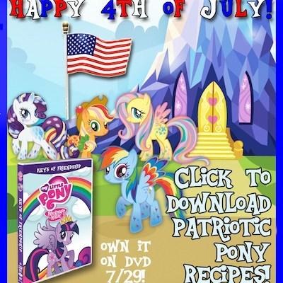 My Little Pony: Keys of Friendship Patriotic Pony Recipes