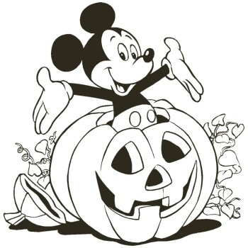 Mickey Mouse - Free Disney Halloween Coloring Pages