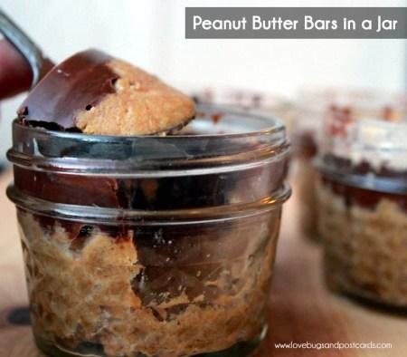 Peanut Butter Bars in a Jar Recipe