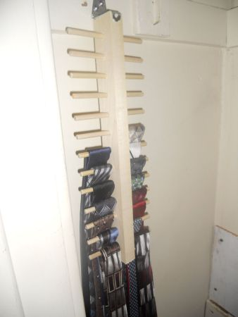 Make a space saving tie rack - would also be great for scarves