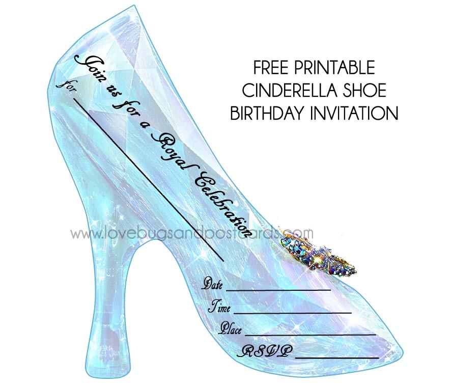 cinderella birthday invitations free