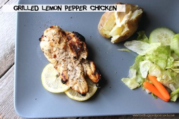 Grilled Lemon Pepper Chicken Recipe {with Marinade}