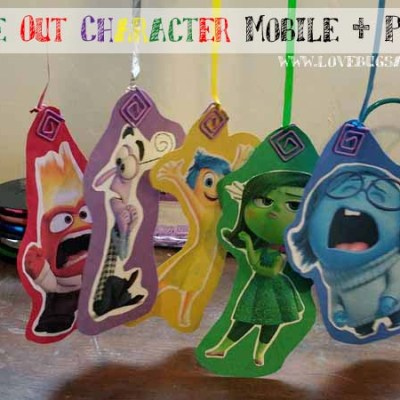 DIY Inside Out Character Mobile + Printables