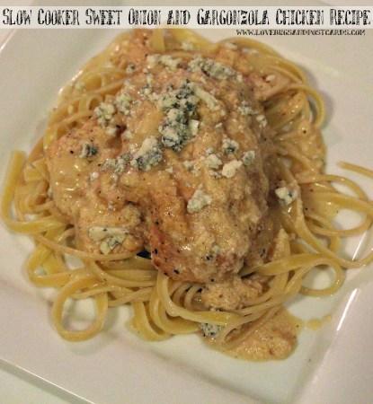 Slow Cooker Sweet Onion and Gargonzola Chicken Recipe
