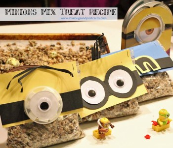 Minion Mix Treat Recipe for movie night fun