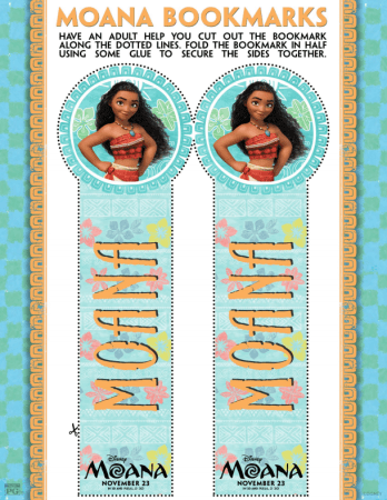 Disney's MOANA Bookmarks