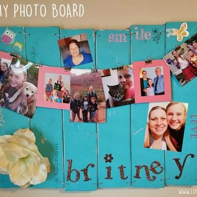 Wood Photo Board DIY