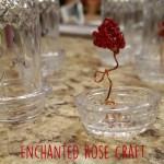 DIY Enchanted Rose in a Jar craft #BeautyAndTheBeast