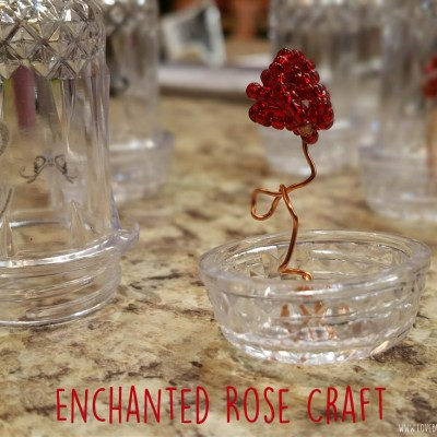 DIY Enchanted Rose in a Jar craft #BeautyAndTheBeast