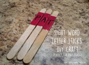 Sight Word Letter Sticks DIY