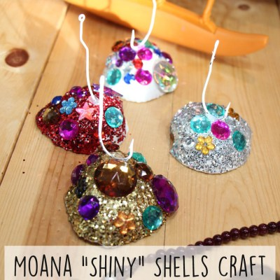 "Moana ""Shiny"" Shells Craft + Family Movie Night #MoanaOnDigital"
