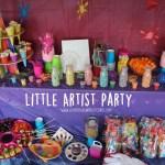 Little Artist Birthday Party