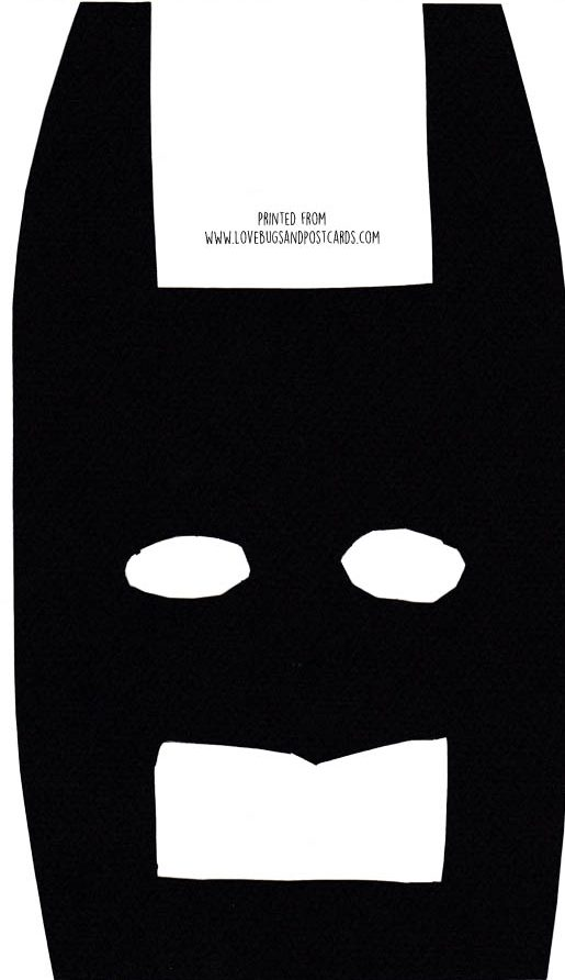 Lego Batman Mask Printable - Lovebugs and Postcards
