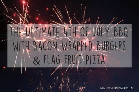 Bacon Wrapped Burgers and Flag Sugar Cookies