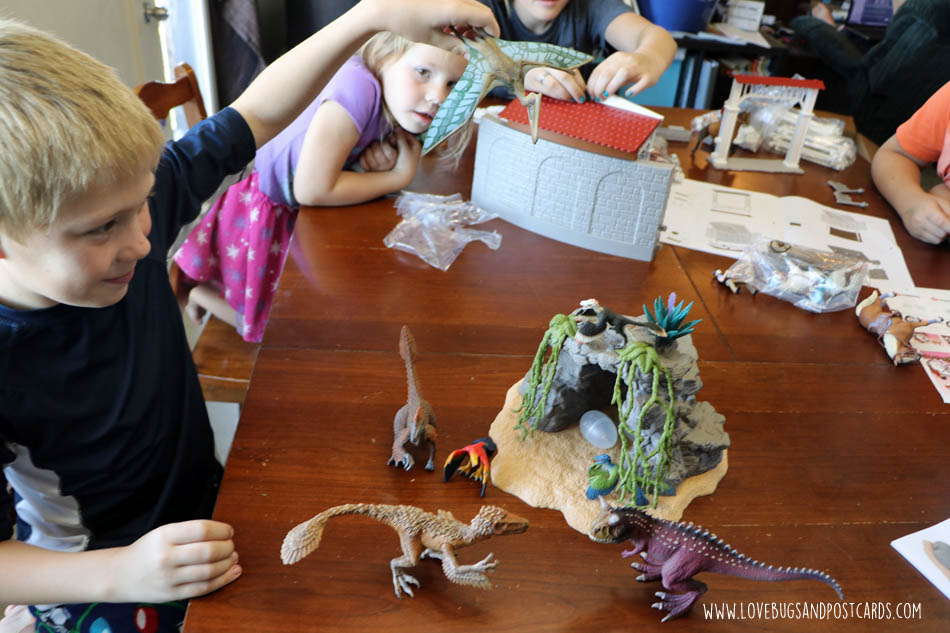 Dinosaur 3-D Picture Craft inspired by Schleich