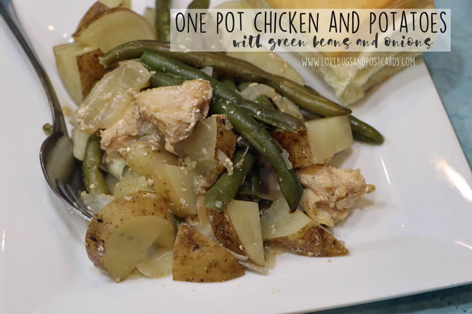 One pot chicken and potatoes with green beans