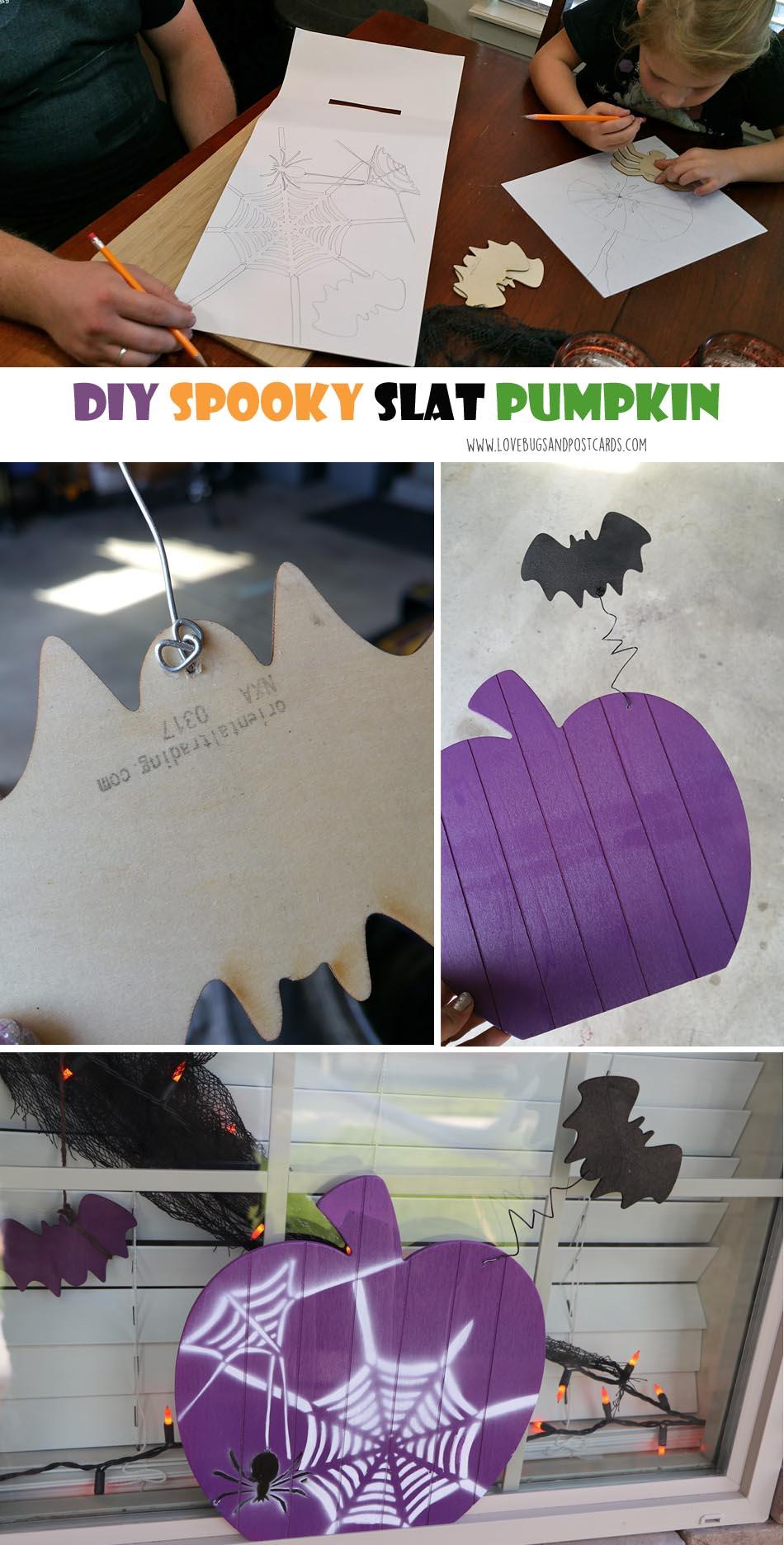 DIY Spooky Halloween Slat Pumpkin
