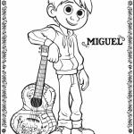 Miguel Coloring Page - Pixars Coco
