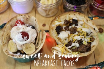 Sweet and Savory Breakfast Tacos