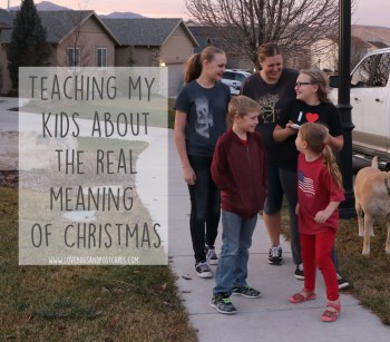 Teaching my kids about the real meaning of Christmas