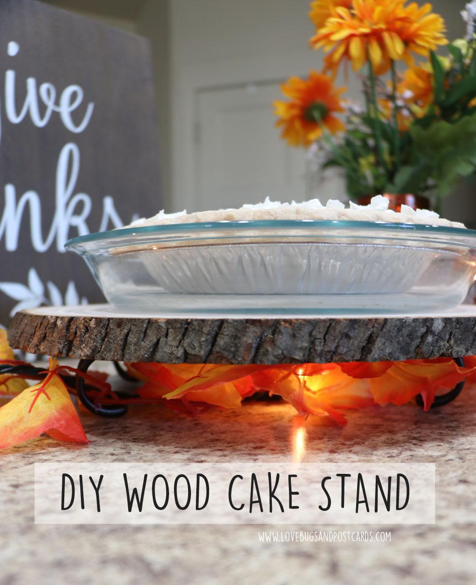 DIY Wood Cake Stand