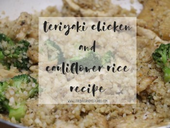 Teriyaki Chicken and Cauliflower Rice Recipe