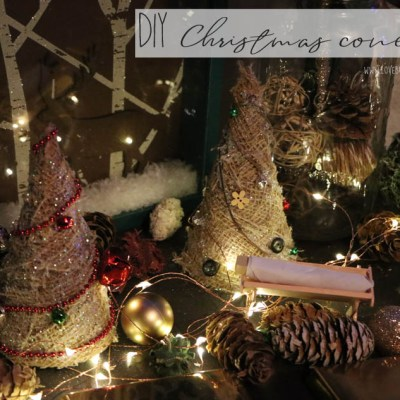 DIY Christmas Cone Tree