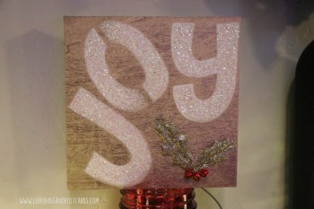 DIY Joy wood board sign