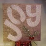DIY Joy wood board sign