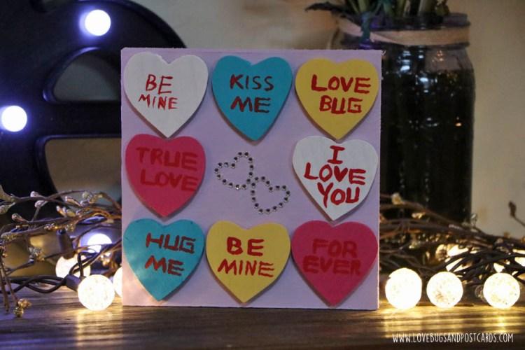 DIY Conversation Hearts Board