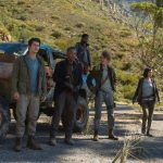 DF-00387_R1 (L-R) Thomas (Dylan O'Brien), Jorge (Giancarlo Esposito), Frypan (Dexter Darden), Newt (Thomas Brodie-Sangster) and Brenda (Rosa Salazar) are in search of answers. Photo credit:Joe Alblas