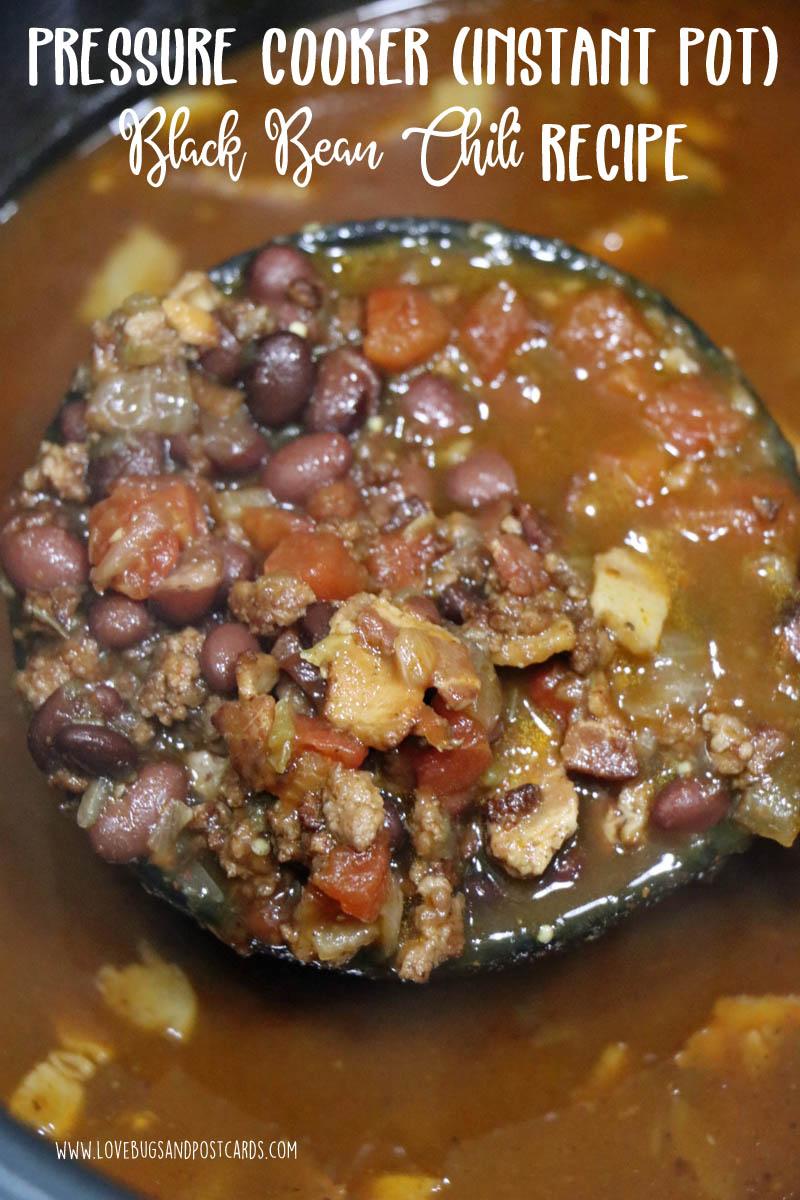 Pressure Cooker (Instant Pot) Black Bean Chili Recipe