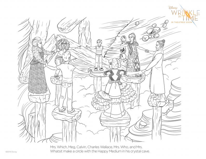 a wrinkle in time medium coloring page