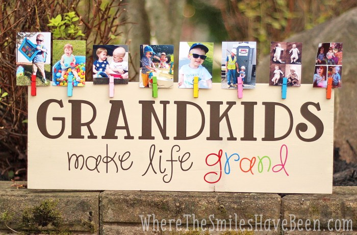 Grandkids Make Life Grand DIY Sign Gift