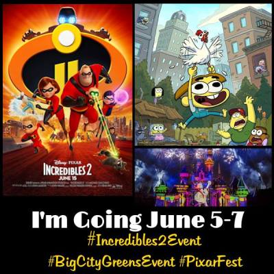 Follow my Incredible journey for the #Incredibles2Event!