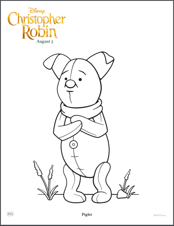 Disney S Christopher Robin Coloring Pages Lovebugs And Postcards