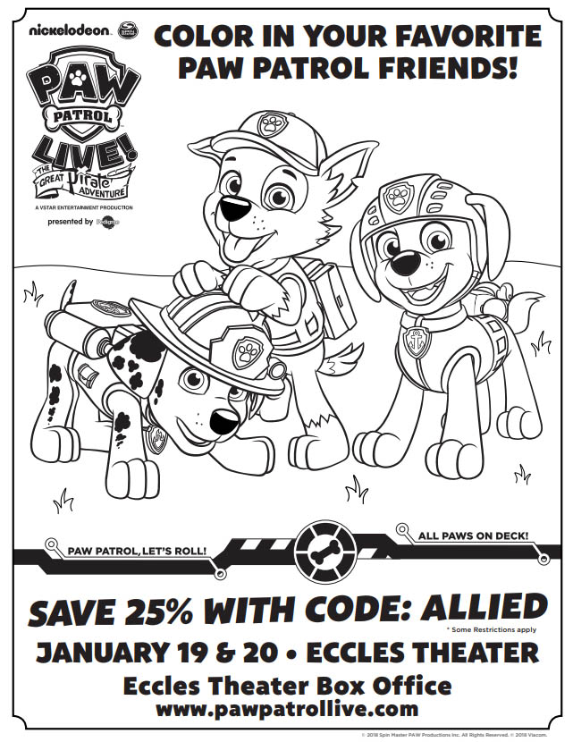 Discount Tickets for PAW Patrol Live!