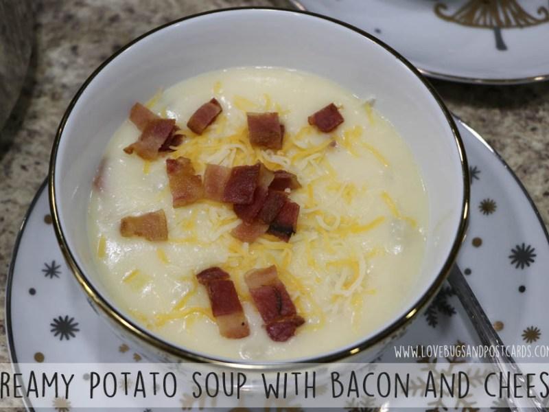 Creamy Potato Soup Recipe with Bacon and Cheese