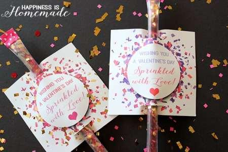 FREE Valentine's Printables - Sprinkled with Love Confetti Valentine