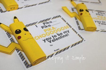 FREE Valentine's Printables - Printable Pokemon Pikachu Valentine's