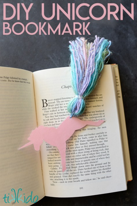 Unicorn Birthday Party Ideas - DIY Unicorn Bookmark