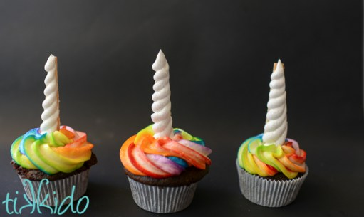 Unicorn Birthday Party Ideas - Rainbow Unicorn Cupcakes