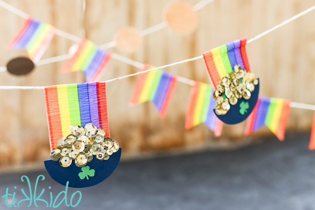 St. Patrick's Day Crafts and Decorations - Three Easy DIY St. Patrick's Day Garland