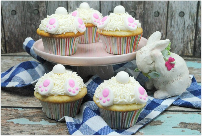 White Bunny Butt Cupcakes