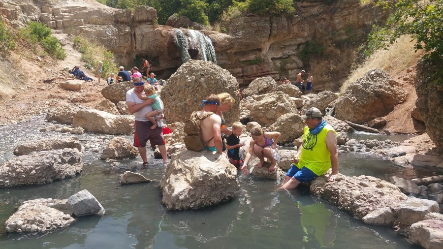 Unique things to do in Utah - Hike to the fifth water hot springs