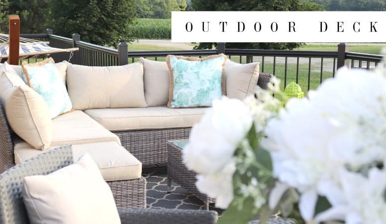 Outdoor Deck Progress & Tour