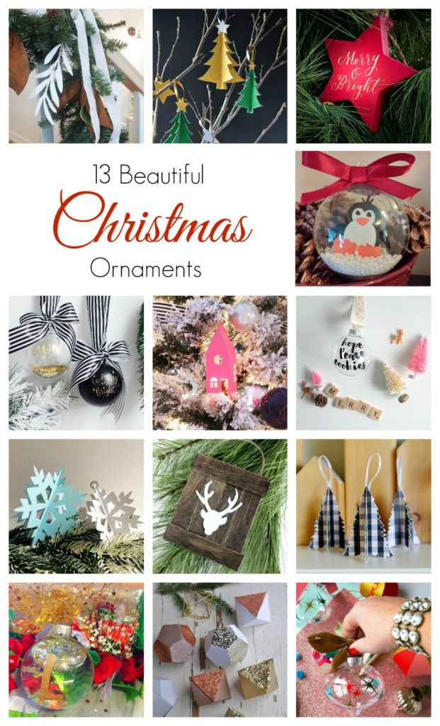 Paper House Christmas Ornament and 12 other Beautiful Christmas ornament DIY ideas!