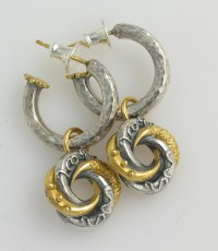 Hoop with mini loveknot drop earring   Contemporary ...