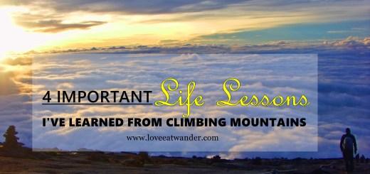 climbing mountains